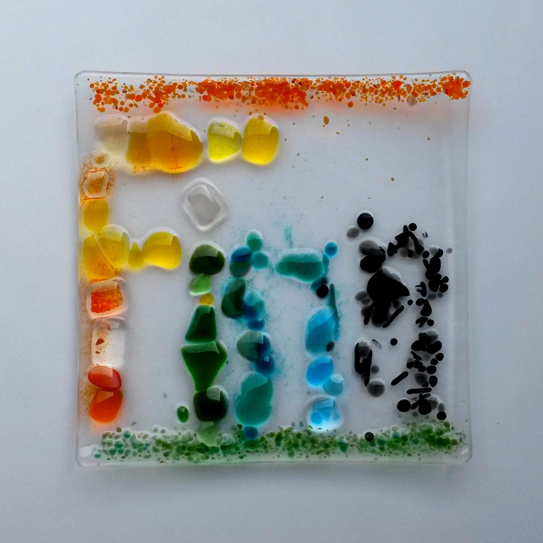 Glasschale- toll gestaltet mit dem eigenen Namen