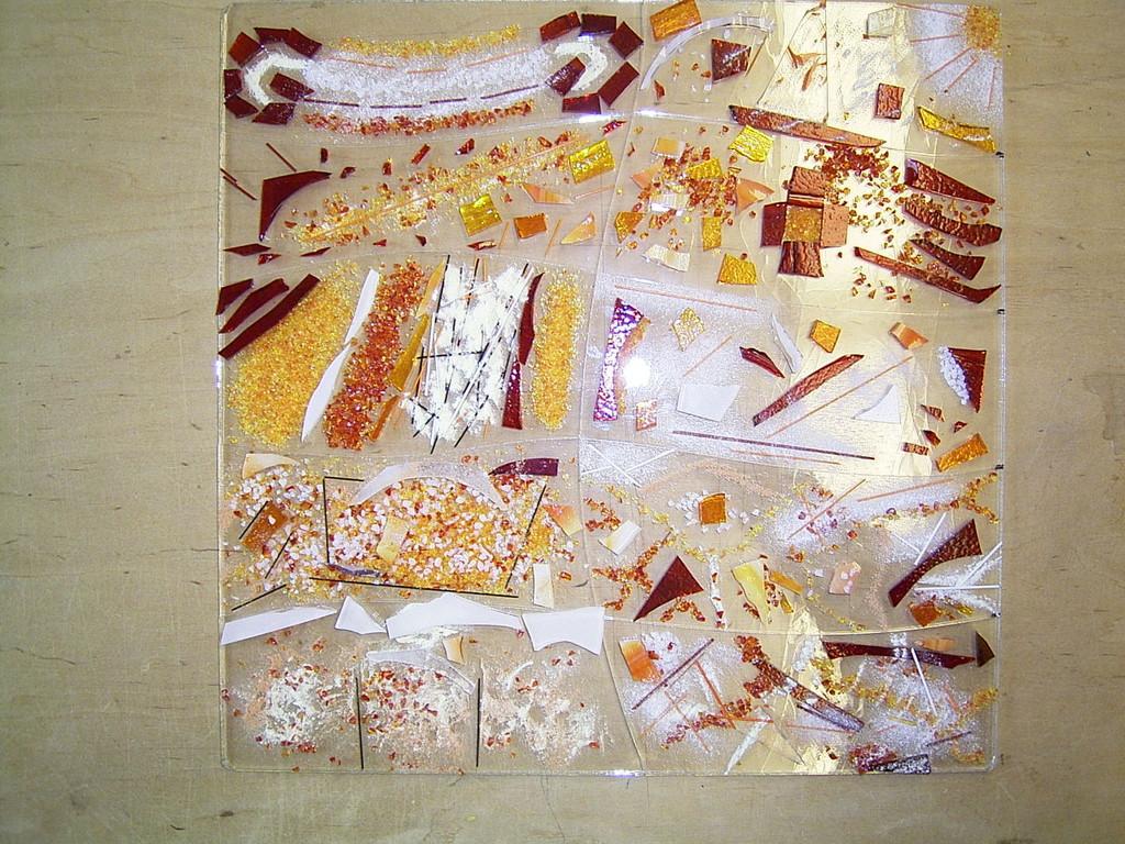 Hier die einzelnen Kunstwerke als Gesamtkunstwerk zusammengelegt- bereit für den Ofen.