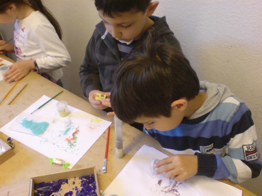 Auch Jungs sind gerne kreativ!