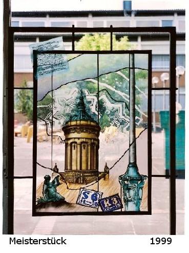 #MannheimerWasserturm #Glasmalerei und #Bleiverglasung #Meisterstück #Handwerk #KatjaStade #glasmalermeisterin