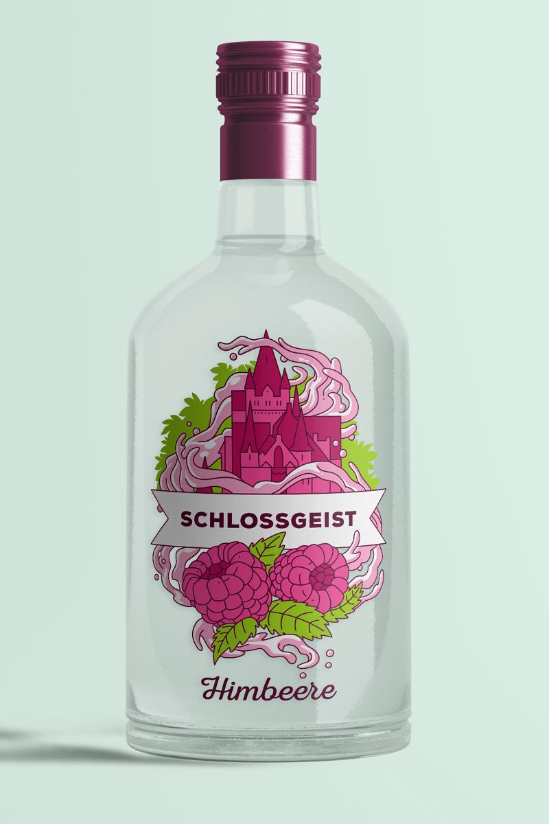 Flasche Schlossgeist Himbeere