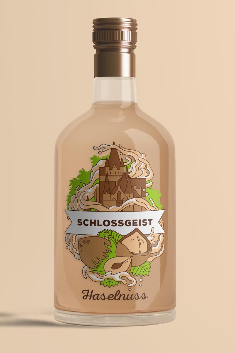 Flasche Schlossgeist Haselnuss