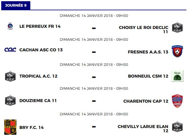 A l 39 affiche cap 94 charenton foot ball section - Stade leo lagrange porte de charenton ...