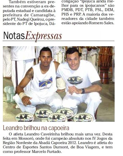 matéria em 2012 pelo jornal em pernambuco