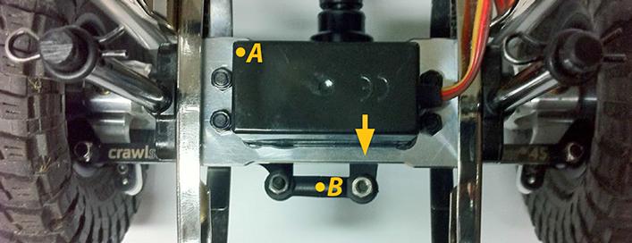 GS01 Chassis Mounted Steering Servo Kit (GM52411S) und Servo-Anlenkung nach Anleitung montieren…