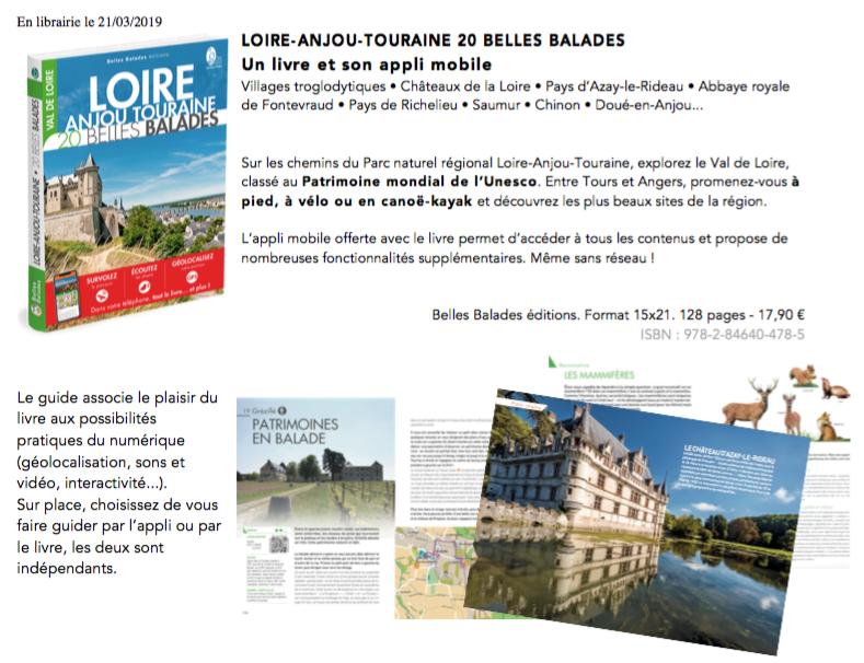 Belles Balades éditions - Patrimoines - Nature - Emilie Boillot - Touraine Terre d'Histoire - Val de Loire