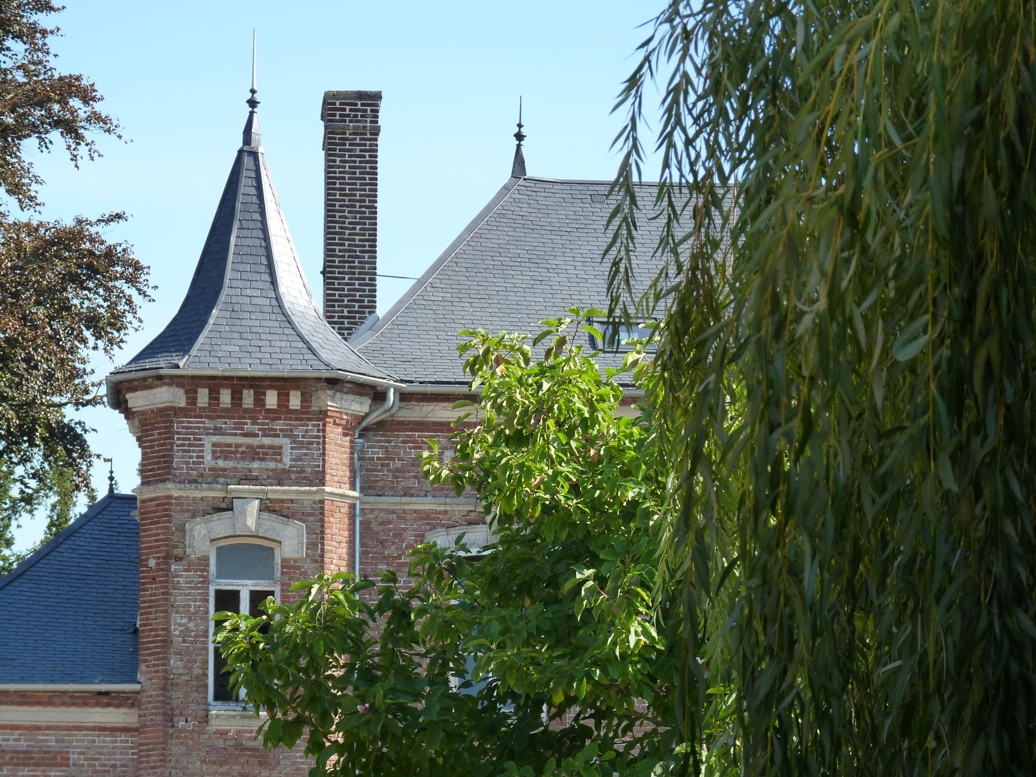 Détail d'une maison de maître à Bouquemaison