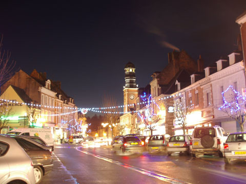 Doullens by night