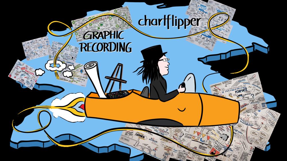 als Graphic Recorder immer live vor Ort - ob auf Englisch oder auf Deutsch