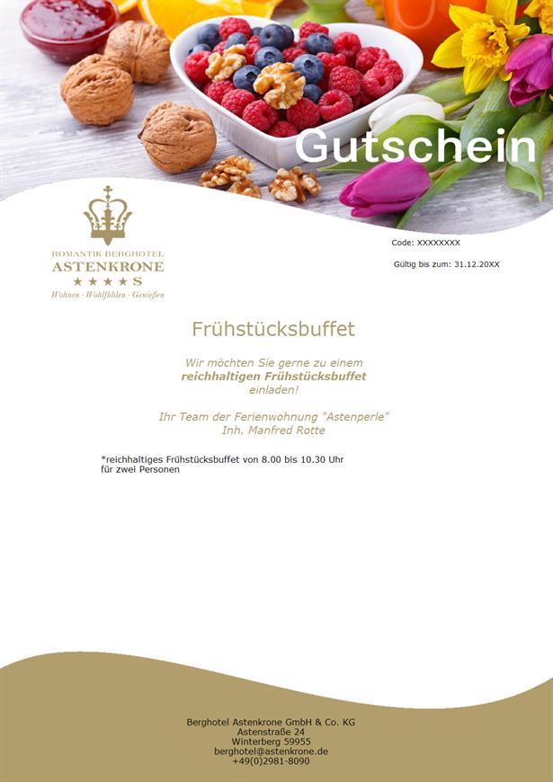 """Frühstücksbuffet in Berghotel """"Astenkrone"""""""