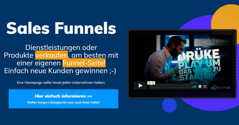 Holen Sie sich Ihre Verkaufsseite mit einer Funnel-WebSite by SGorges.fo
