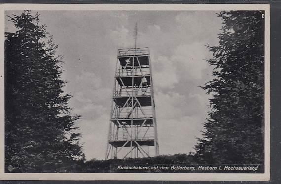 alter Kuckucksturm auf dem Bollerberg 1936-1945