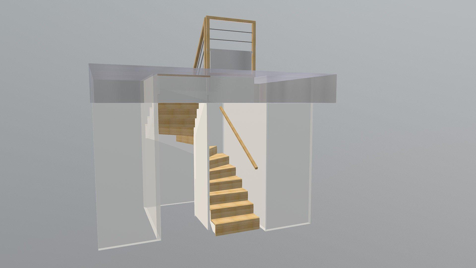 escalier l 39 anglaise en u c18 48 escaliers prosper sp cialiste de la conception la pose. Black Bedroom Furniture Sets. Home Design Ideas