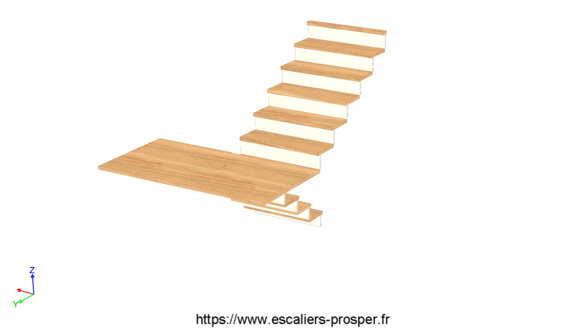 habillage d 39 escalier b ton e15 119 escaliers prosper sp cialiste de la conception la pose. Black Bedroom Furniture Sets. Home Design Ideas