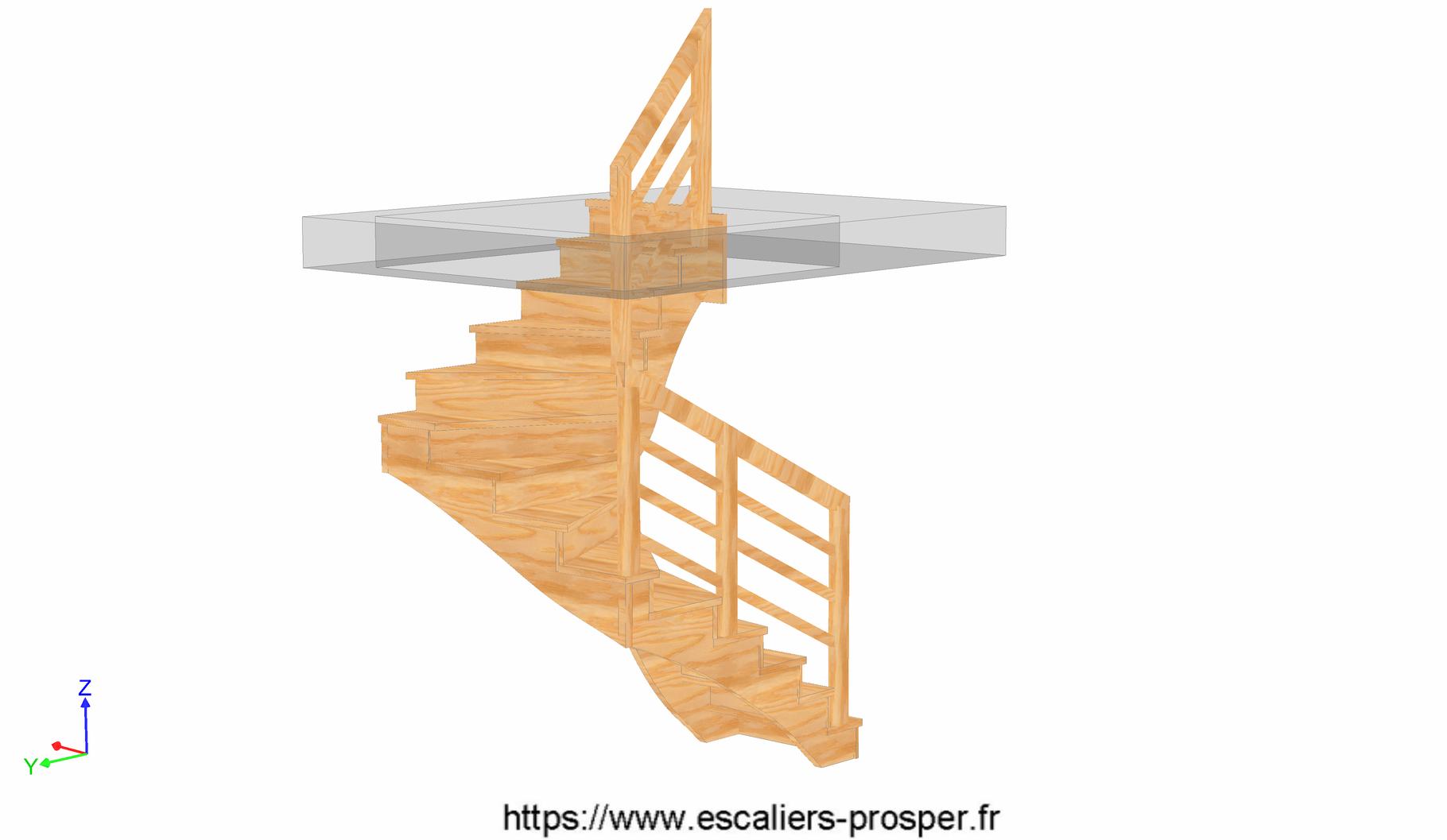 escalier en u l 39 anglaise e15 042 a rdc escaliers prosper sp cialiste de la conception. Black Bedroom Furniture Sets. Home Design Ideas