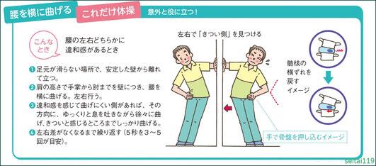 脊髄髄核の移動ストレッチ