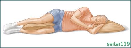 腰が痛い時の寝方、横向き姿勢