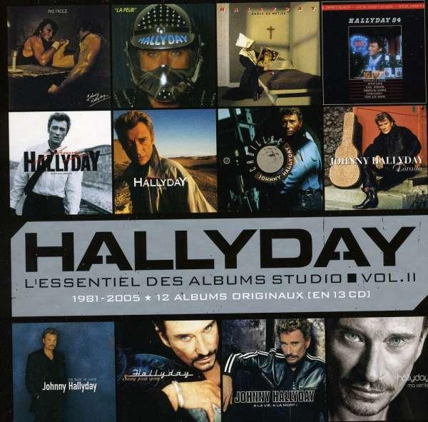 Johnny Hallyday  L'Essentiel Vol.II Des Albums Studio 12 CDs - Alben:Pas Facile/La Peur/Drole De Metier/Nashville 84/ Rock'n'Roll Attitude/Gang/Cadillac/Lorada/Ce Que Je Sais/ Sand Pour Sang/A La Vie.. / * Papersleeves in Pappbox Vol.II