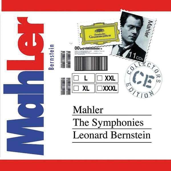 Gustav Mahler (1860-1911)  Symphonien Nr. 1-10 Barbara Hendricks, Christa Ludwig, Margaret Price, Hermann Prey, Concertgebouw Orchestra, New York Philharmonic Orchestra, Wiener Philharmoniker, Leonard Bernstein 11 CDs