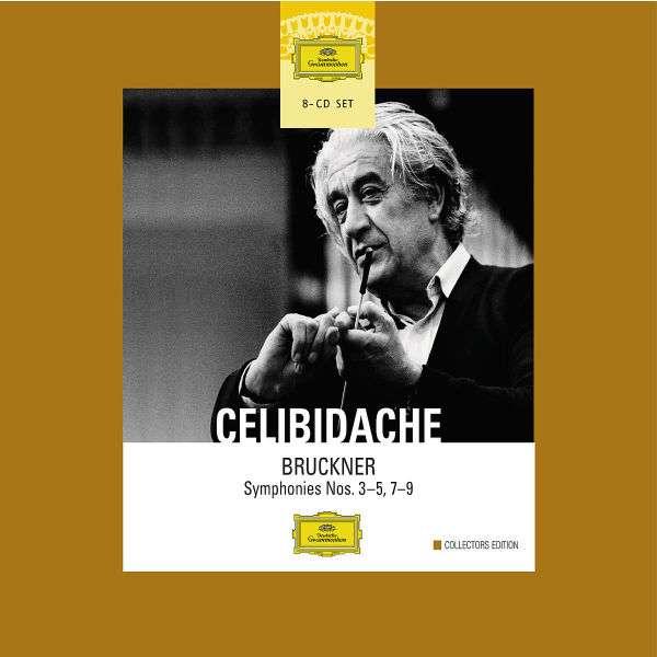 Sergiu Celibidache dirigiert Bruckner Swedish Radio Symphony Orchestra, Radio-Sinfonieorchester Stuttgart, Sergiu Celibidache 8 CDs   Symphonien Nr. 3-5, 7-9