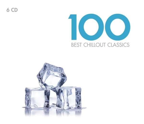100 Best Chilout Classics -  6 CDs      Werke von Bach, Mozart, Satie, Chopin, Faure u. a.      Künstler: Janet Baker, David Daniels, Emmanuel Pahud, Manuel Barrueco u. a.