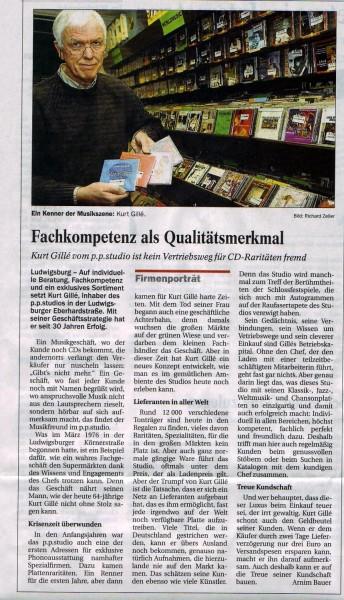 30 Jahre p.p.studio CD Spezialitäten in der Eberhardstrasse (20.2.2006)