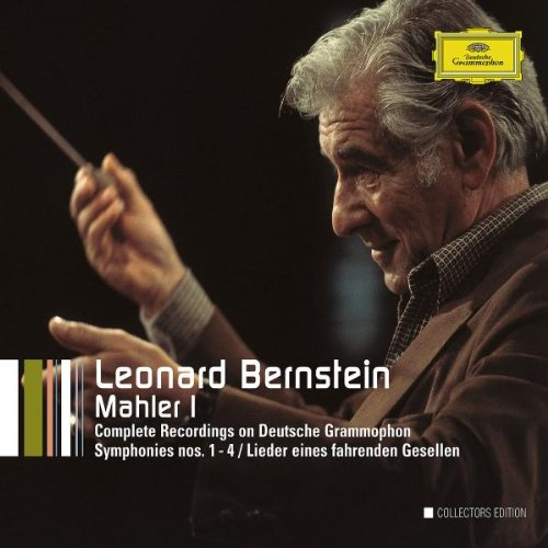 Leonard Bernstein - The Complete Mahler DG-Recordings I Barbara Hendricks, Lucia Popp, Christa Ludwig, New York Philharmonic Orchestra, Concertgebouw Orchestra, Leonard Bernstein 6 CDs      Mahler: Symphonien Nr. 1-4; Lieder eines fahrenden Gesellen; Li