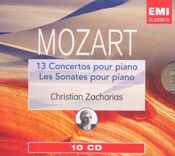 W.A.Mozart-18 Piano Sonatas / 13 Piano Concertos by Mozart Christian Zacharias Zinman Marriner