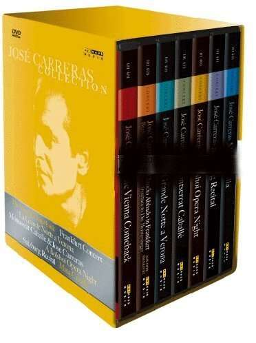 Jose Carreras Collection (Box) Martin Haselböck, Jose Carreras, Montserrat Caballe, Miguel Zannetti, Martin Katz, Alfredo Kraus, Carlo Bergonzi, Hermann Prey, Irina Arkhipova, Lucia Aliberti, Rolando Panerai, Alan Titus und weitere 7 DVDs
