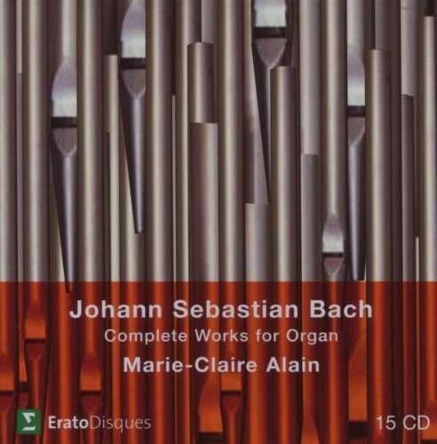 Johann Sebastian Bach (1685-1750)  Orgelwerke (Ges.-Aufn.) Marie-Claire Alain 15 CDs