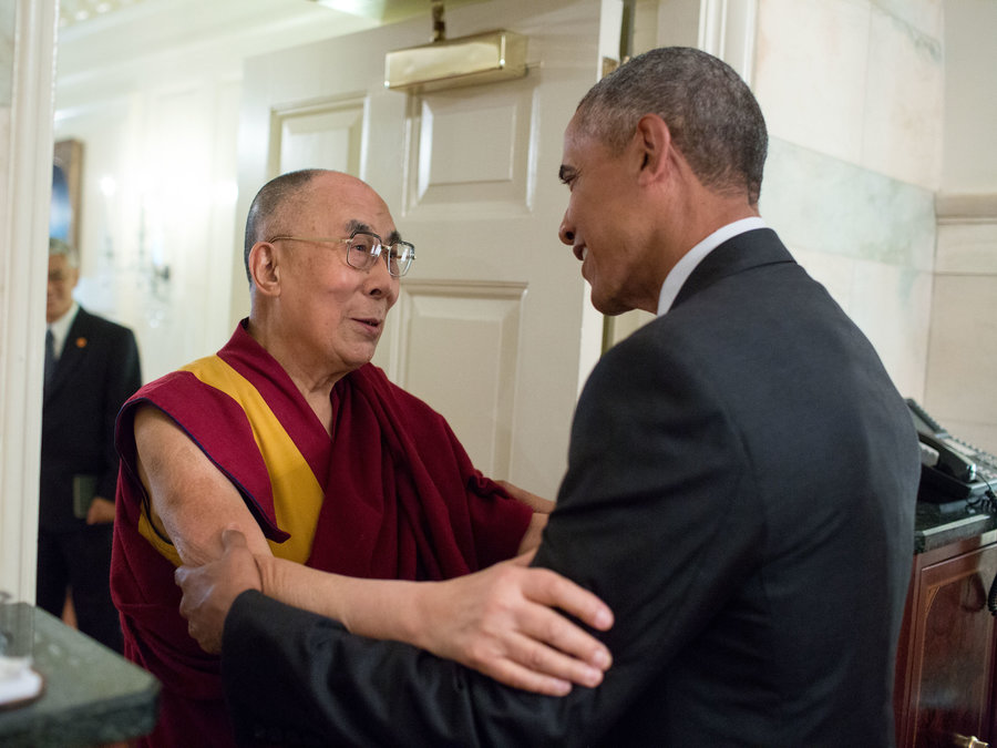 Hello Dalai - Greeting His Holiness, the Dalai Lama at the White House