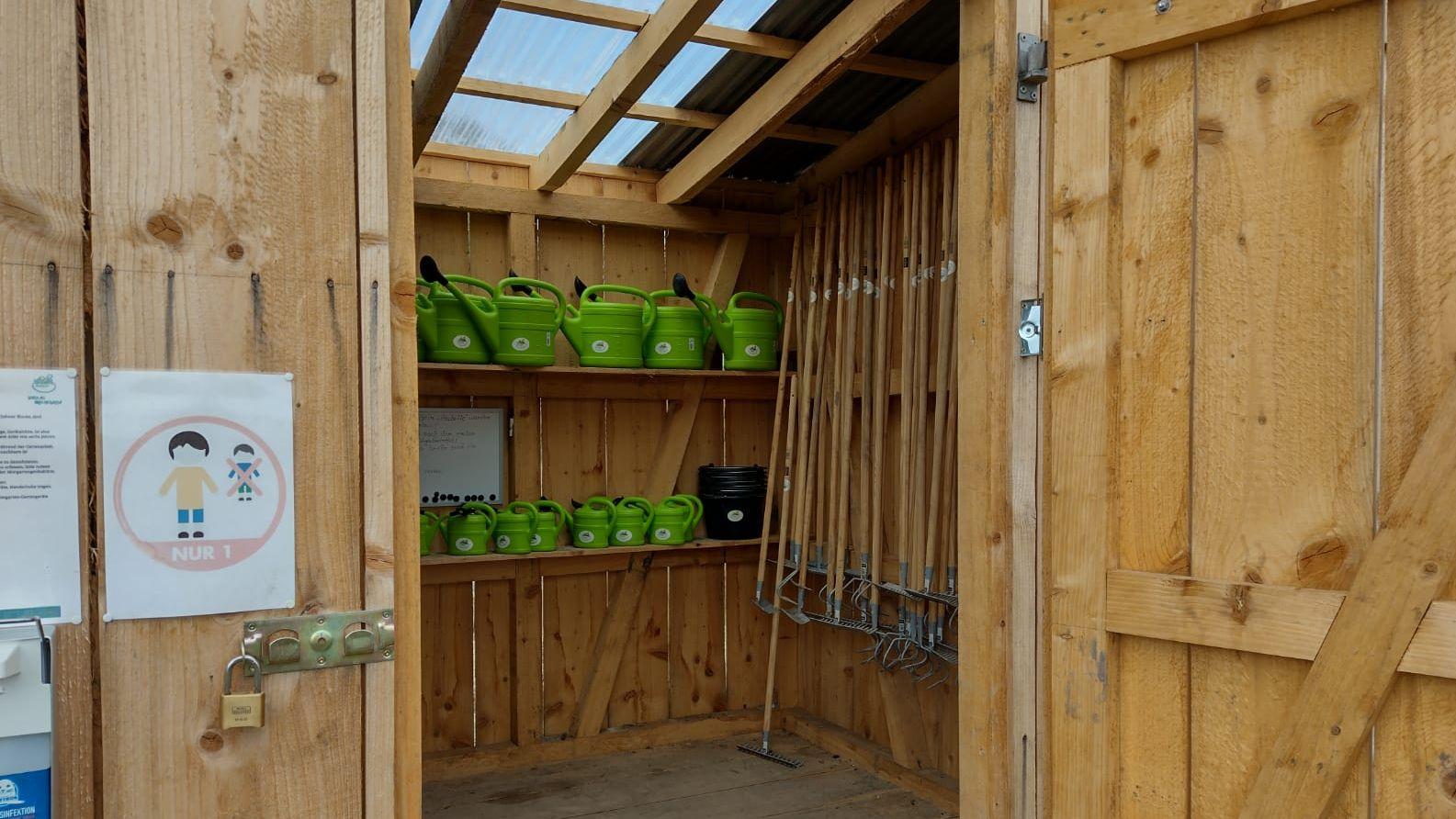 Gartengeräte für den Mietgarten Mehring
