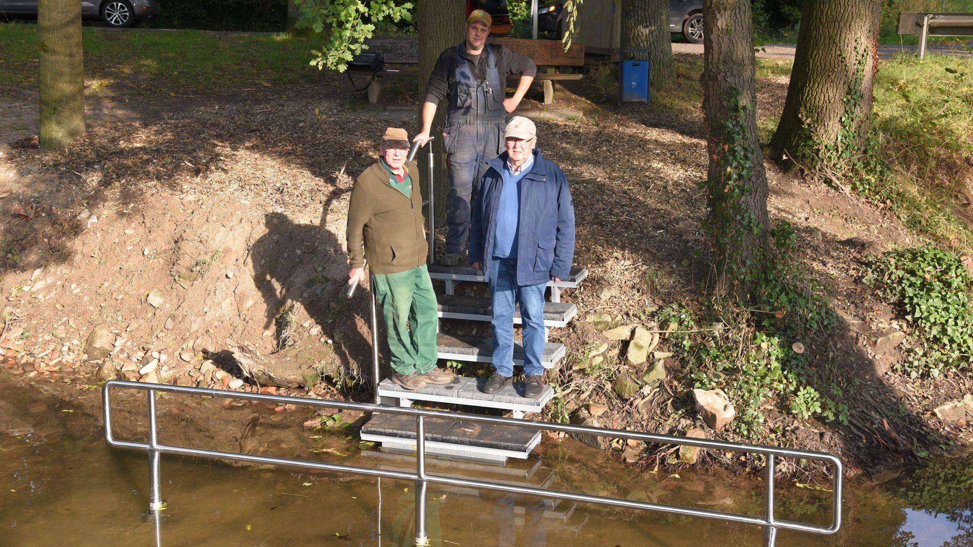 Bau einer naturnahen Kneipp-Wassertretanlage an der Stever in Nottuln | Foto Westfälische Nachrichten