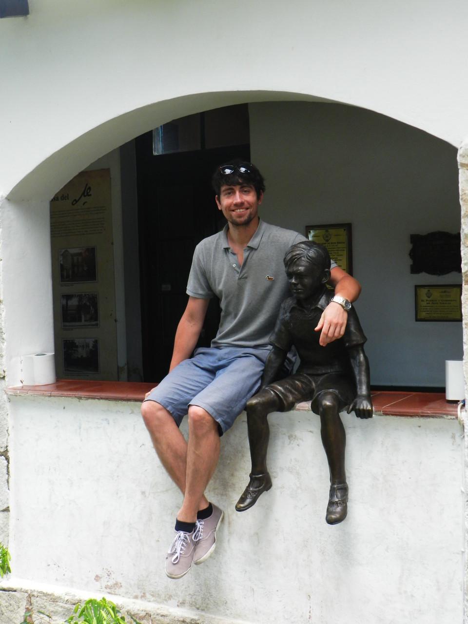 Arm in Arm mit dem jungen Che