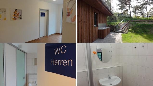 Sanitärbereich im Rezeptionsgebäude | © www.zweiseen.de/sanitaeranlagen