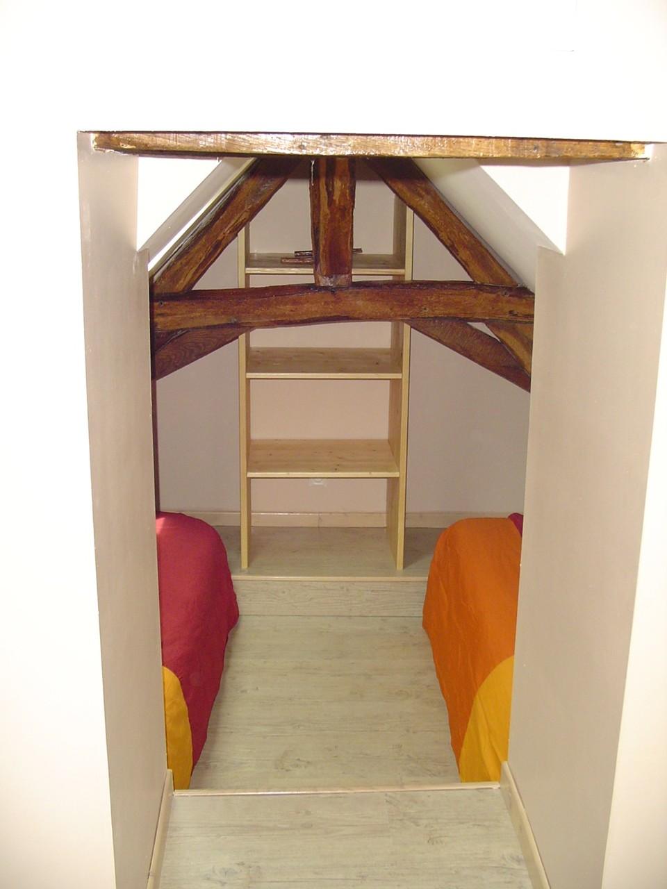 La chambre  avec 2 lits de 90