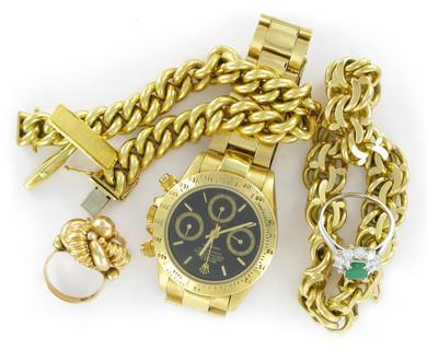 montre et bijoux en or