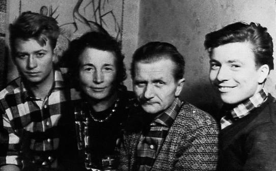 Mit Ehemann Otto und beiden inzwischen großen Söhnen