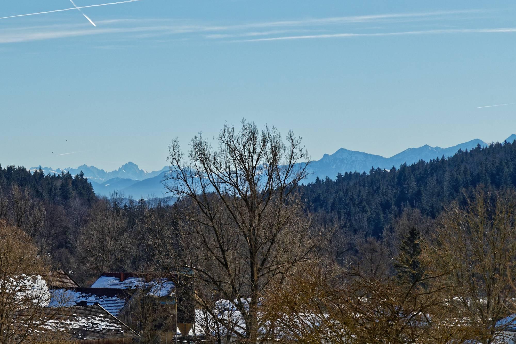 Blick zum Kaisergebirge - Elmauer Halt