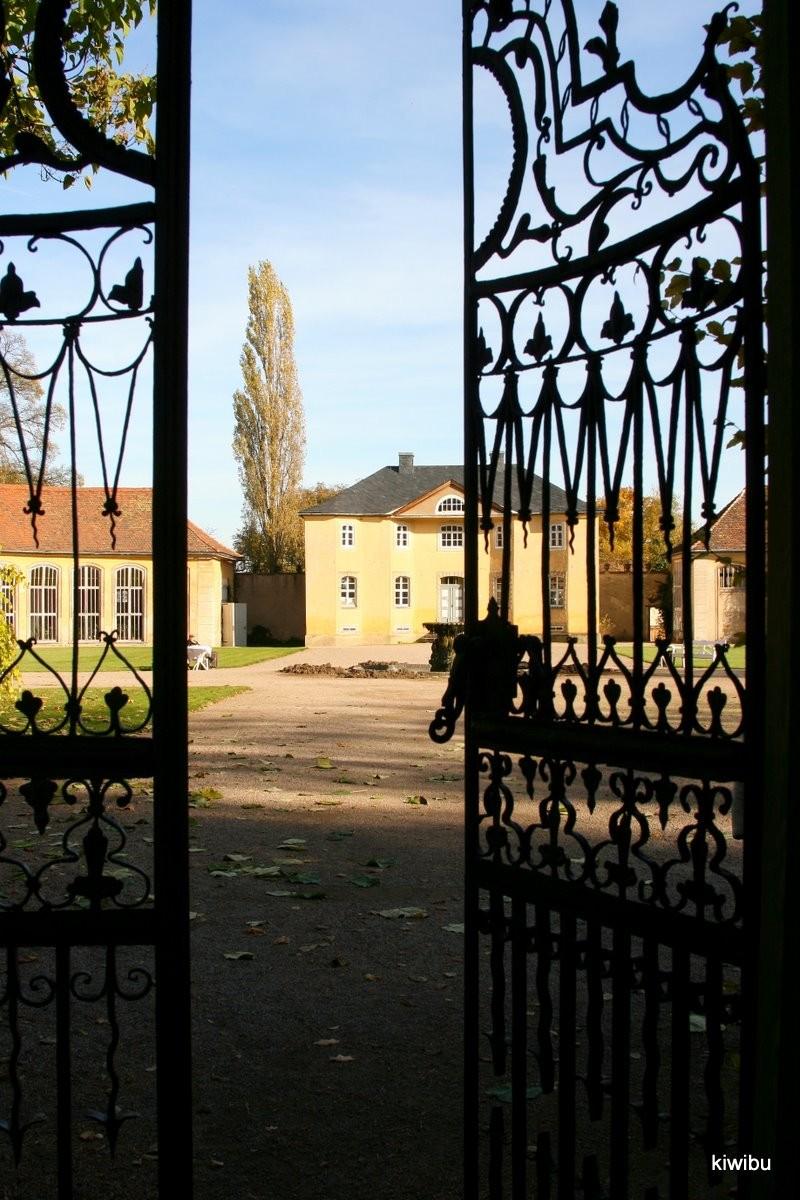 Eingangstor zur Orangerie in Belvedere