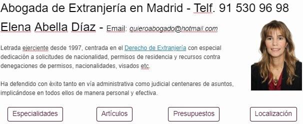 Abogada de Extranjeria en Madrid - Permisos de Residencia y Trabajo