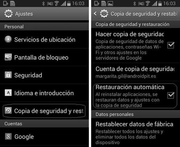 Pasar todos los datos de un smartphone a otro
