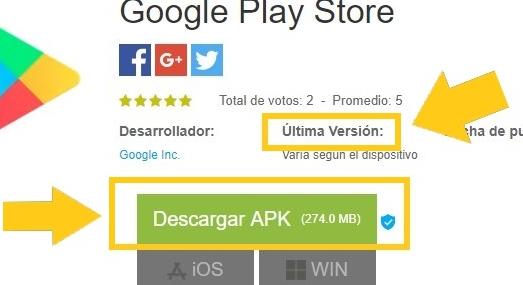 Cómo Descargar Google Play en su última versión