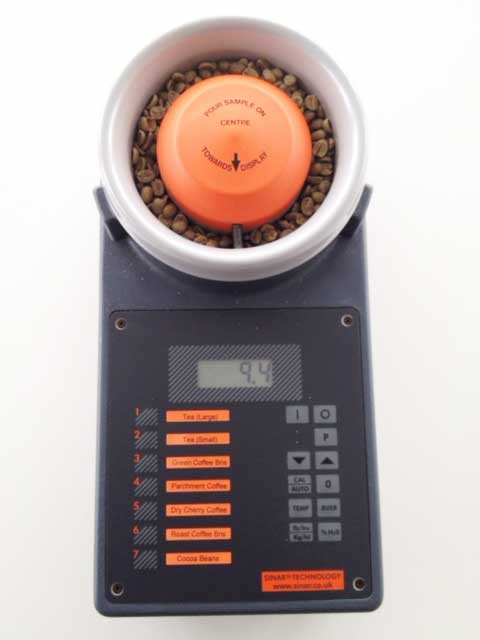 Green coffee moisture measurement