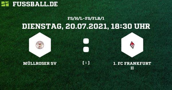 Erstes Testspiel gg. FC Frankfurt II