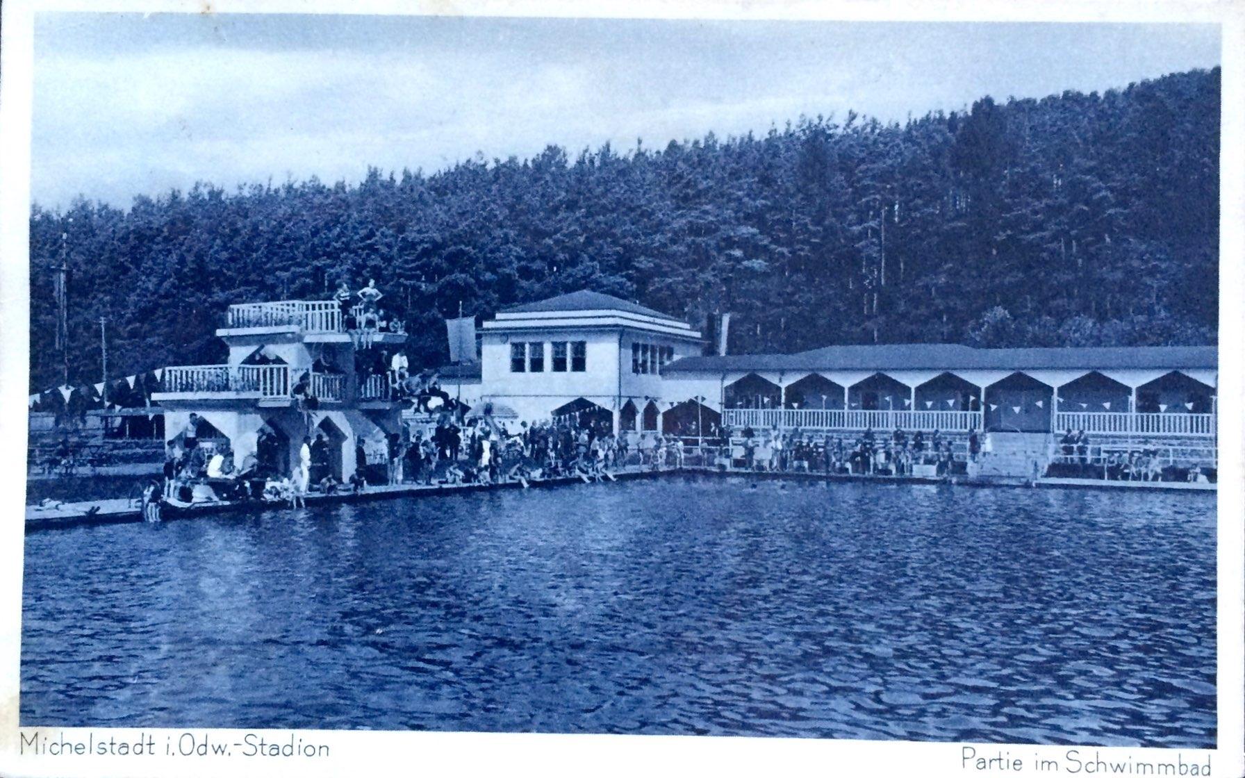 Schwimmbad Alte Ansichten und Korrespondenz aus dem Odenwald Wir zeigen Ansichtskarten Briefe Rechnungen und alles alte auf Papier