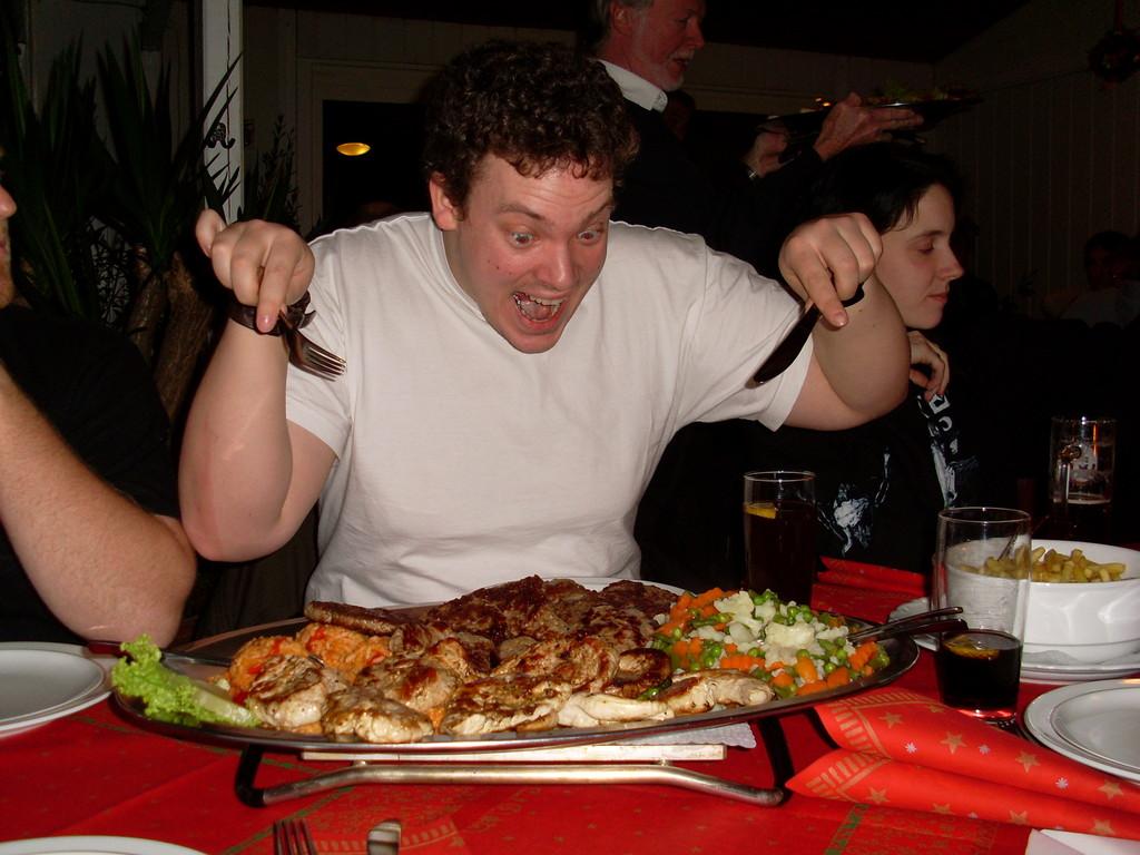 auch das Essen abends war sehr lecker und Boris bekam nicht alles allein!