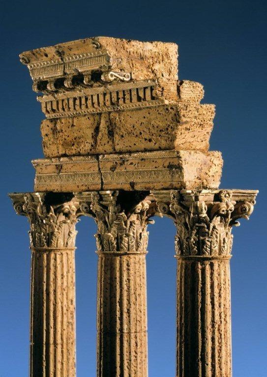 Tempel des Castor und Pollux Korkmodell