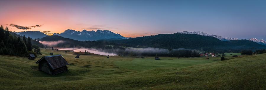 Panorama view at Geroldsee