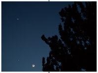 Venus, Jupiter, Mond